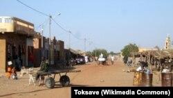 La ville de Nara, au Mali, en janvier 2009.