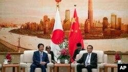 中国总理李克强会晤日本首相安倍