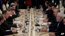 نشست سه جانبه وزیران خارجه روسیه، ترکیه و ایران درباره سوریه در مسکو - ۳۰ آذر ۱۳۹۵