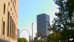 The Gateway Arch is the towering focal point of the St. Louis, Missouri skyline.