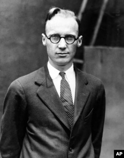 "Prof. John T. Scopes, a high school biology teacher charged with teaching evolution, is shown at the time of his trial that is dubbed the ""Monkey Trial"" by the media in Dayton, Tenn., July 1925."