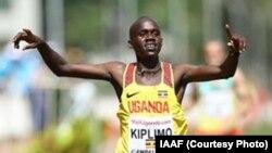 Jacob Kiplimo akishinda mbiyo za nyika za vijana chini ya miaka 20 Kampala