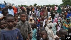 Wadanda 'yan Boko Haram suka tilastawa barin gidajensu.