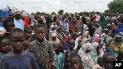 Jama'a da suka kauracewa gidajensu biyo bayan hare-haren kungiyar Boko Haram