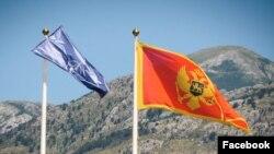 Zastave NATO-a i Crne Gore (Foto: Zvanična Fejsbuk stranica Vlade Crne Gore)