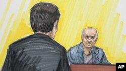 画像为巴基斯坦裔美国人戴维德.黑德利5月23日在芝加哥联邦法庭
