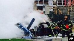 El helicóptero al parecer buscaba aterrizar en el techo de la sede de la cadena de televisión KOMO.