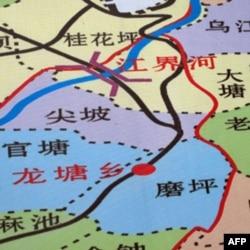 江界河大桥位置示意图