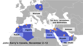 John Kerry's travels, November 2–12