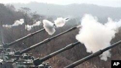 한국군 훈련 현장