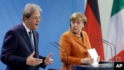 Паоло Джентилони и Ангела Меркель