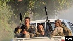 სპეციალური დანიშნულების ბრიგადის მებრძოლები, ლაფანყური, 2012 წლის აგვისტო