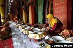 Persiapan acara Makan Bajamba di Sumatra Utara (dok: William Wongso)