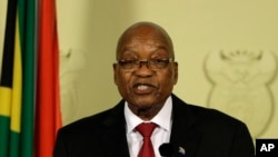 Jacob Zuma discursou à nação. Fev. 14, 2018.