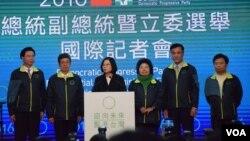 台灣總統、立委選舉泛綠首次實現全面執政(美國之音湯惠芸攝)