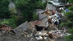 1500名救援人員在日本山泥傾瀉現場搜尋生還者