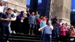 تظاهرات اعتراضی خبرنگاران مصری در قاهره - ۱۳ اردیبهشت ۱۳۹۵