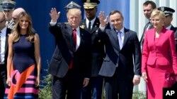 Дональд Трамп и президент Польши Анджей Дуда