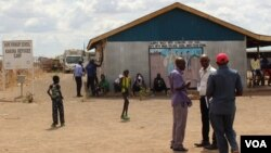 Residents of Kenya's Kakuma Refugee Camp wait to attend VOA recording as audience members in November 2018.