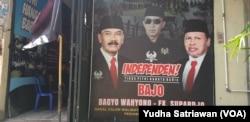 Posko Pemenangan Calon jalur Perseorangan atau Independen di Solo, Bagyo Wahyono- FX Supardjo, Rabu (2/9). (Foto: VOA/ Yudha Satriawan)