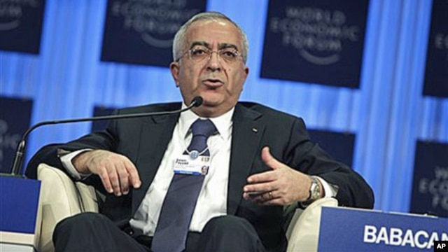 Palestinian Prime Minister Salam Fayyad speaks during a session at the World Economic Forum in Davos, Switzerland, January 29, 2011