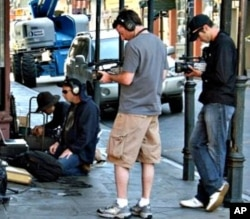 Mark Johnson and Playing for Change film crew in New Orleans