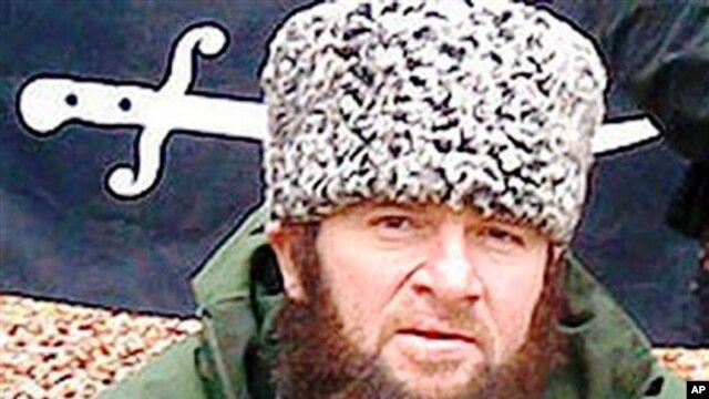 In this screen shot taken in Moscow, a computer screen shows an undated photo of a man identified as Chechen separatist leader Doku Umarov posted on the Kavkazcenter.com site, (File)
