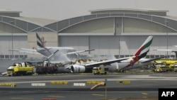 بوئینگ ۷۷۷ هواپیمایی امارات در فرودگاه بین المللی دوبی