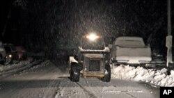 Tuyết rơi tại Elkins, West Virginia vào ngày 30/10/2012, một ngày sau khi siêu bão Sandy ập vào miền đông Hoa Kỳ