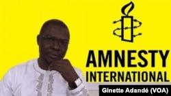 Fidèle Kikan, directeur Amnesty international Bénin, à Cotonou, 10 décembre 2017. (VOA/Ginette Adandé)