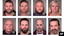 俄勒岡州警方發布的佔領公地8名人士的照片。