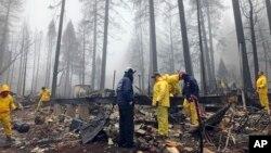 Les dégâts de l'incendie à Paradise, en Californie, le vendredi 23 novembre 2018. (Photo AP / Kathleen Ronayne)