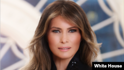 Official White House portrait of first lady Melania Trump