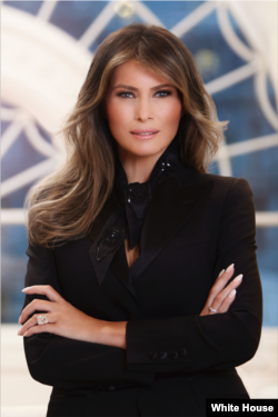 First Lady Melania Trump was born Melanija Knavs. Melania Knauss is the German version of her name.