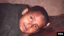 Un joven paciente de malaria cerca a Alem Kitmama, al norte de Etiopía.
