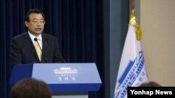 한국 청와대 이정현 홍보수석. (자료사진)
