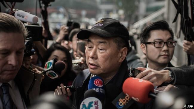香港壹传媒创办人黎智英(资料照片)