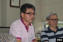 憲政轉型學者王天成(美國之音方冰拍攝)