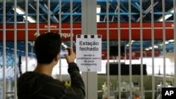 """""""Quizás la huelga retorne el 12 y eso dependerá de la readmisión de 42 trabajadores que fueron despedidos"""", dijo Altino de Melo, presidente del sindicato de trabajadores del metro de Sao Paulo."""