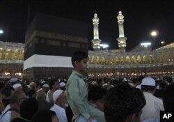 Des centaines de milliers de musulmans à la Mecque