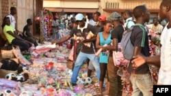 Le marché de Bangui, en Centrafrique, le 23 décembre 2015.