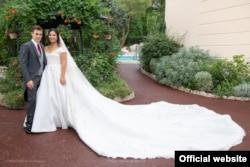 Marie Hoa Chevallier trong áo cưới- Đám cưới Hoàng gia Monaco