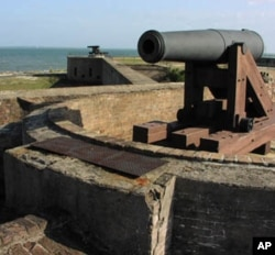 Fort Gaines, whose batteries unsuccessfully attempted to defeat Union Admiral David Farragut's forces in Mobile Bay during the US Civil War, is severely endangered by erosion of the Dauphin Island shoreline.