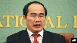Tân Bí thư thành ủy TP HCM Nguyễn Thiện Nhân.