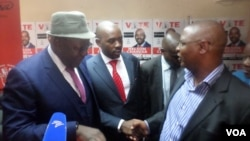 MDC Alliance principals Tendai Biti, Nelson Chamisa and Welshman Ncube.
