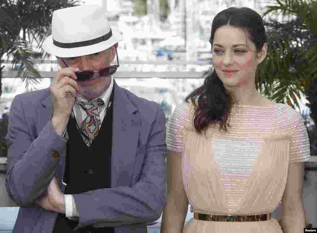 Marion Cotillard y el director JacquesAudiars, que ha basado su película en dos novelas de Craig Davidson.