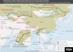 Pentagon map: China's military strategy driven by energy demands