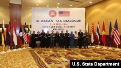 第31届美国-东盟对话会2018年4月3日在吉隆坡举行(美国驻东盟代表处)