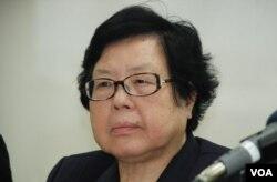 港區人大代表、經濟學者劉佩瓊。(美國之音湯惠芸攝)