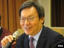 台灣前國安會秘書長、台北論壇基金會董事長蘇起(美國之音張永泰拍攝)。